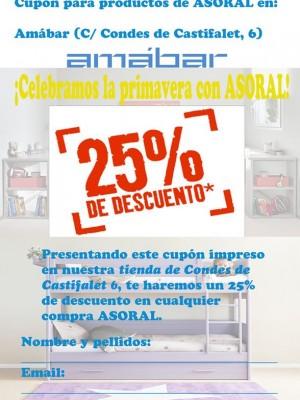 Un 25% de descuento en ASORAL, muebles y complementos